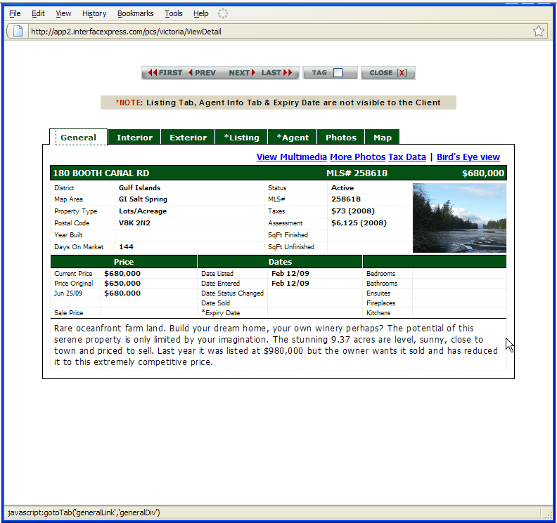 screen shot 2 PCS Advanced MLS® (PCS)