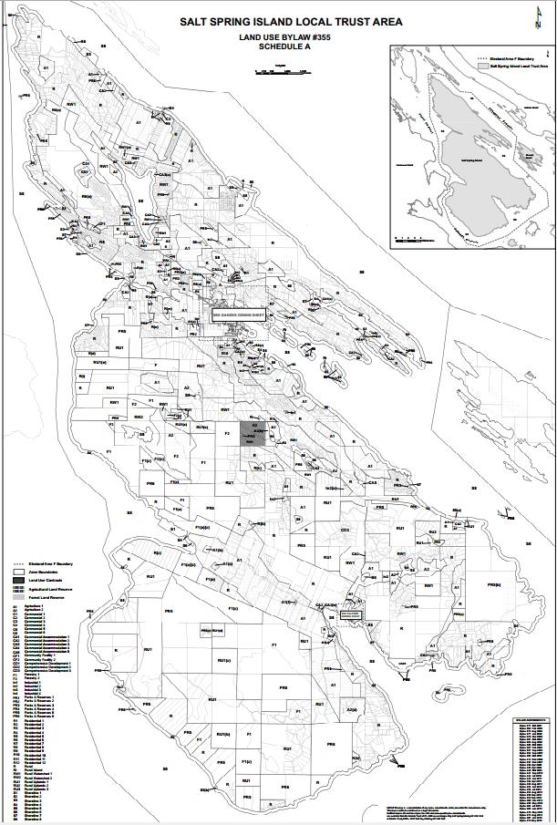 Map Of Salt Spring Island Salt Spring Island Maps